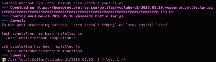 brew install